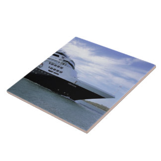 Sleek Cruise Ship Bow Tile