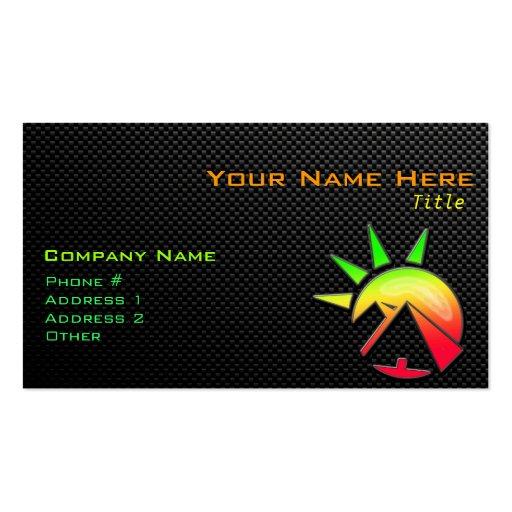 Sleek Egyptian Pyramid Business Cards