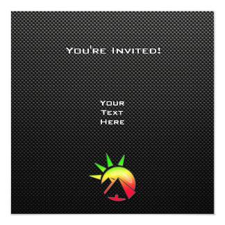 "Sleek Egyptian Pyramid 5.25"" Square Invitation Card"