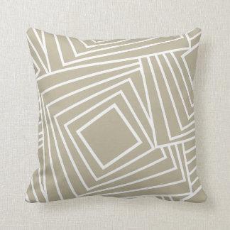 Sleek geometric pattern in beige cushion