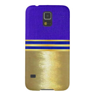 Sleek Gold and Blue Textures Case