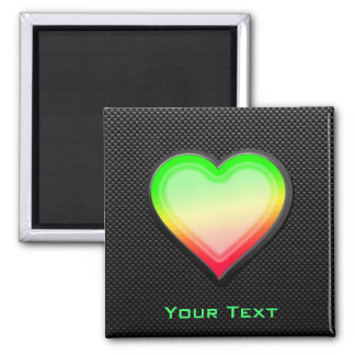 Sleek Heart Fridge Magnets