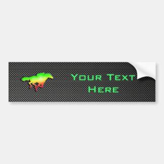 Sleek Horse Racing Bumper Sticker