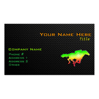 Sleek Horse Racing Pack Of Standard Business Cards