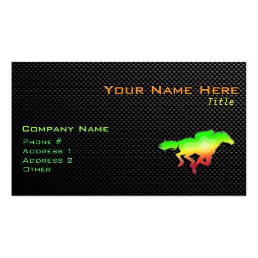 Sleek Horse Racing Business Cards
