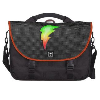 Sleek Lightning Bolt Laptop Messenger Bag