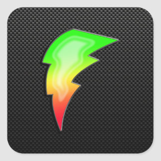 Sleek Lightning Bolt Square Sticker