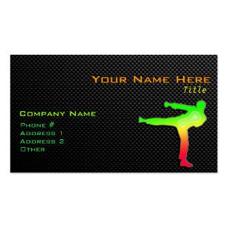 Sleek Martial Arts Pack Of Standard Business Cards