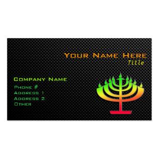 Sleek Menorah Business Cards