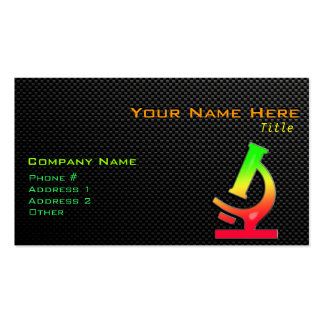 Sleek Microscope Business Card Template