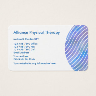 physical therapy business card
