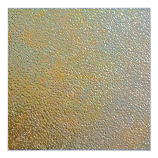 Sleek Modern Textured Metal Gold Silver Pitted 13 Cm X 13 Cm Square Invitation Card