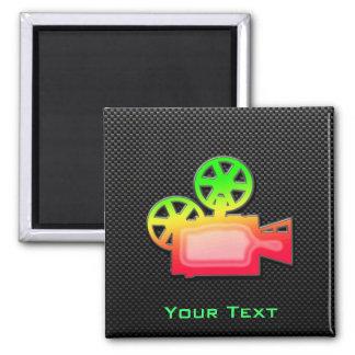 Sleek Movie Camera Fridge Magnets