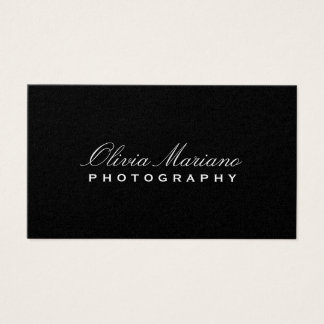 SLEEK PHOTOGRAPHER BUSINESS CARD