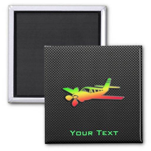 Sleek Plane Fridge Magnet