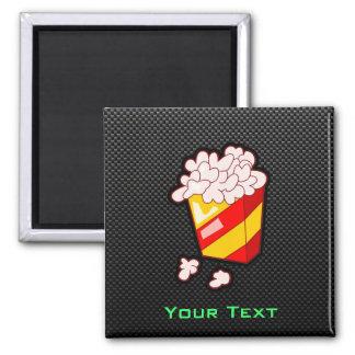 Sleek Popcorn Square Magnet