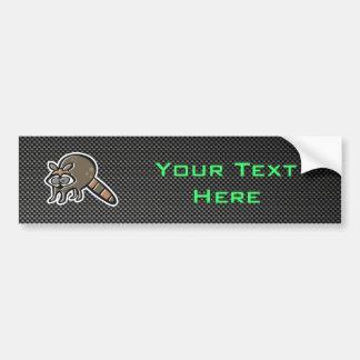 Sleek Raccoon Car Bumper Sticker