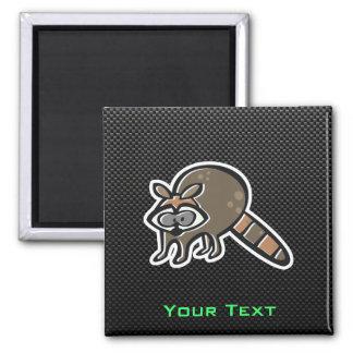 Sleek Raccoon Square Magnet