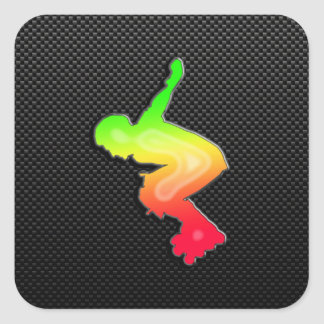 Sleek Rollerblading Sticker
