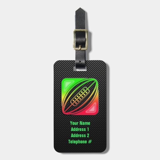 Sleek Rugby Tags For Bags