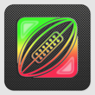 Sleek Rugby Square Sticker