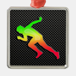 Sleek Running Christmas Ornament