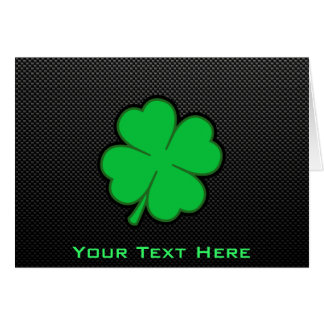 Sleek Shamrock Card