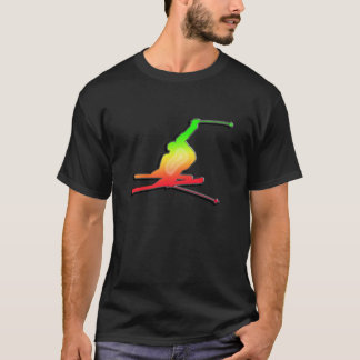 Sleek Snow Skiing T-Shirt