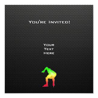 Sleek Speed Skater 13 Cm X 13 Cm Square Invitation Card