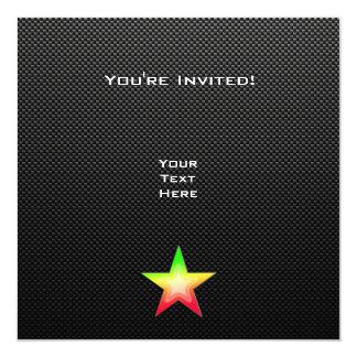 Sleek Star 13 Cm X 13 Cm Square Invitation Card