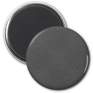 Sleek stylish black and white design magnets