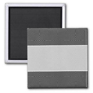 Sleek, stylish, black and white design. square magnet