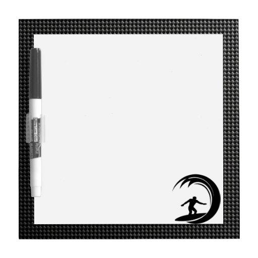 Sleek Surfing Dry Erase Board