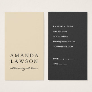 Sleek Tan Gray (appointment) Business Card