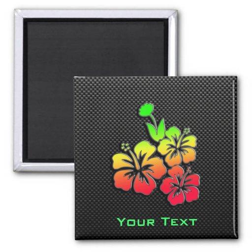 Sleek Tropical Flowers Magnet