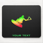 Sleek Wakeboarder Mouse Pad