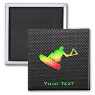 Sleek Wakeboarder Square Magnet