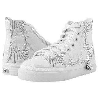 Sleek White beautiful fantastic masculine design High Tops