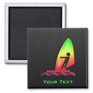 Sleek Windsurfing Fridge Magnet