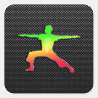 Sleek Yoga Square Stickers