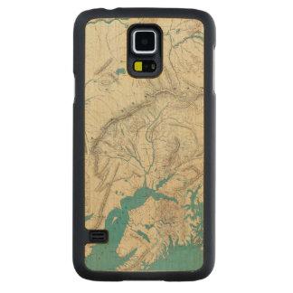 Sleem's Map of Central Alaska Maple Galaxy S5 Case