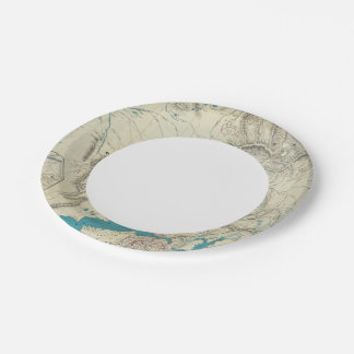 Sleem's Map of Central Alaska Paper Plate