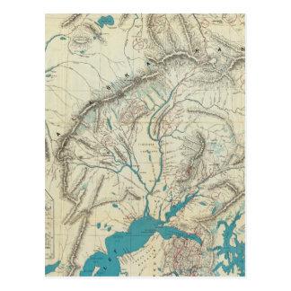 Sleem's Map of Central Alaska Postcard
