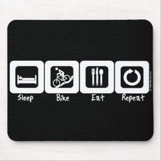 Sleep Bike Eat Repeat Mouse Mat