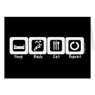 Sleep Blade Eat Repeat Card
