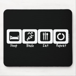 Sleep Blade Eat Repeat Mouse Pad