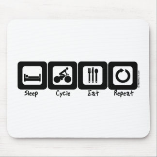 Sleep Cycle Eat Repeat Mouse Mat