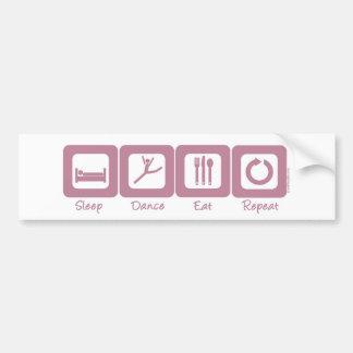 Sleep Dance Eat Repeat Bumper Sticker