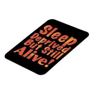 Sleep Deprived But Still Alive in Fire Tones Rectangular Photo Magnet