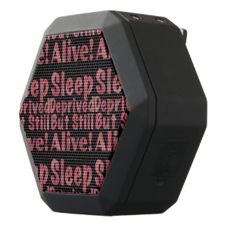 Sleep Deprived But Still Alive in Raspberry Black Bluetooth Speaker